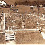The girls'swimming pool in Delanore shown in the early 1950's